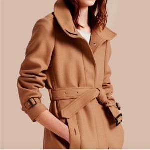 Burberry London (Original) Wool Belted Trench Coat